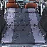 Materasso ad aria automatico per auto, campeggio, materassino gonfiabile da viaggio rialzato con ali (nero)