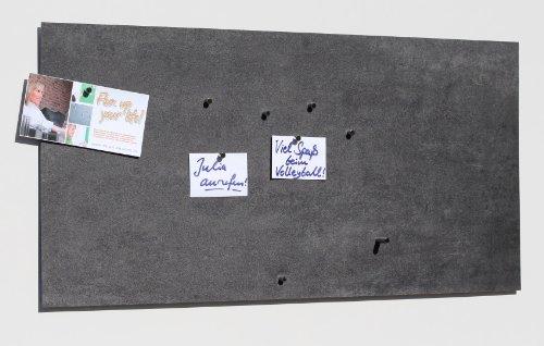 41upw402c8L - Vinyl-Magnet-Pinnwand mit Stein- / Schiefer-Optik, Memoboard, Magnettafel, magnetisch; inkl. 10 Haft-Magnete