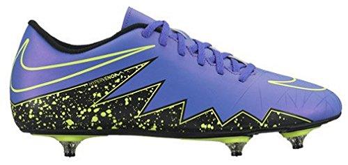 Nike Hypervenom Phade II SG, Botas de fútbol para Hombre, Morado/Negro/Verde (Hyper Grape/Hypr Grape-Blk-Vlt), 44 EU