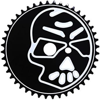 Mail order Lowrider Steel Bicycle Sprocket Skull Cheap bargain 1 8X44T WH. Bike Black 2X1