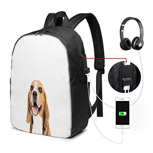 Usicapwear rugzak, Gelukkige Hond Gazing Aan Camera Harige Vriend Paw Huisdier Liefhebber foto
