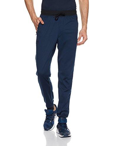 Under Armour Sportstyle Tricot Jogger, komfortable Sporthose für Männer, schnell trocknende Trainingshose mit integrierter Handytasche Herren, Academy / Black , XL