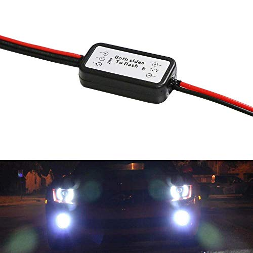 iJDMTOY (1) Alternating Left/Right Strobe Flash Module Box Compatible With Car Fog Lights, LED Daytime Running Lights, Work Lights and more