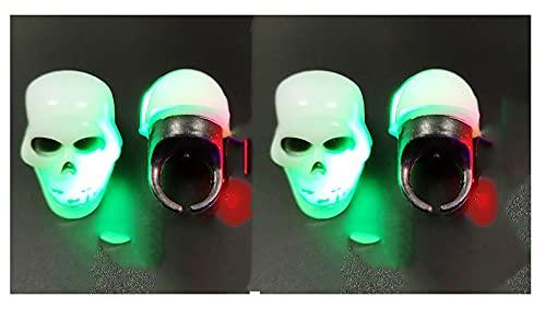 LJWLZFVT Luces de Anillo LED de Halloween, Luces de Anillo de Halloween, preste atención a Las Luces de Anillo en Anillos para niños, niñas y niños(Color:A4)
