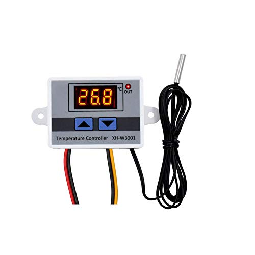 Kamenda 2 unids 220 V Digital LED controlador de temperatura 10A XH-W3001 termostato interruptor de control sonda