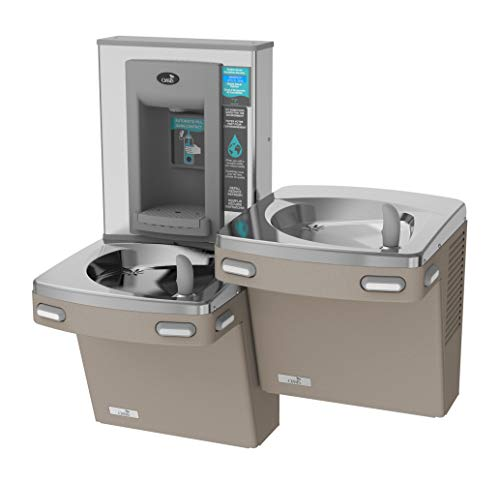 Oasis PGF8EBFSL VersaCooler II Combo ADA Bottle Filler and Bi-Level Filtered, Refrigerated Drinking Fountain, Sandstone