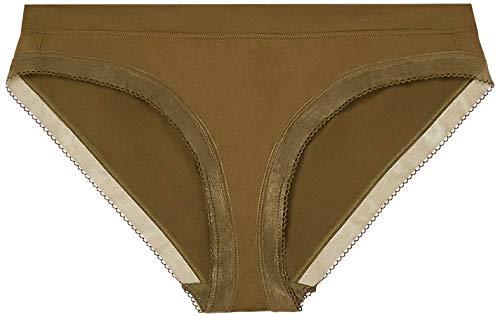 Savage X Fenty Damen Mid-Rise Stretch Mikrofaser Unterwäsche im Bikini Stil, Military Green, XL