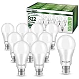 B22 LED Bayonet Bulbs, 13W 1200LM B22 LED Light Bulbs, 100W Equivalent, 3000K Warm White, A60 Energy Saving...