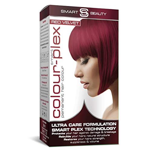 Red Velvet Hair Dye   PPD free Permanent red hair colour   Red home hair colouring kit   Vegan hair dye   Cruelty free   Smart Beauty hair colours + Smart Plex anti-breakage technology