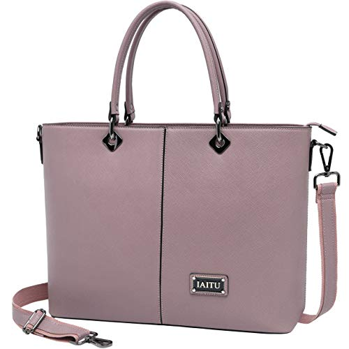 Laptop Bag for Women,Personalized Work Computer Bag Large Capacity Briefcase with Shouler Strap for Macbook Ultra-book (Purple)
