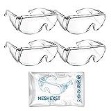 NESHEXST ゴーグル 保護メガネ 防護 安全 防塵 CE認証 ROHS認証 (4)