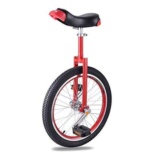 20 Inch Unicycles for Adults Beginner, Skidproof Butyl Mountain Tire & Height Adjustable Comfortable Seat, Load-Bearing 300lbs