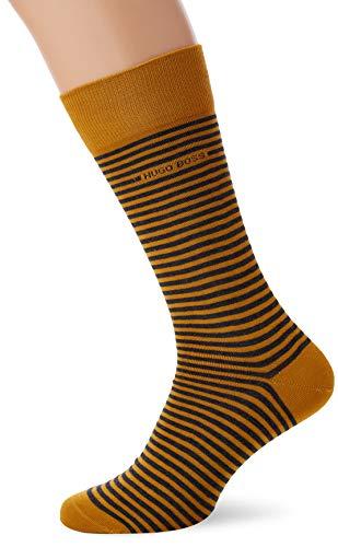 Calcetines de rayas amarillas unisex