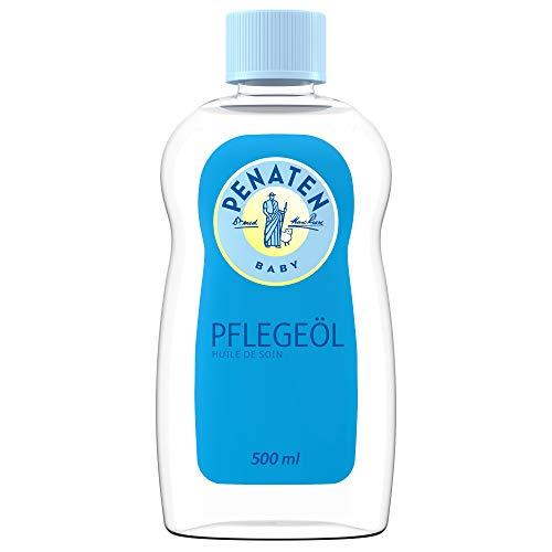 PENATEN Pflegeöl, pflegendes Babyöl & Babypflege Massageöl zur sanften Reinigung und Pflege empfindlicher Babyhaut (1 x 500ml)