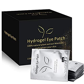 100 Pairs Under Eye Pads Eyelash Extension Eye Pads 100% Natural Hydrogel Eye Patch Lash Gel Pad for Eyelash Extensions supplies Beauty Makeup Eye Mask Kit