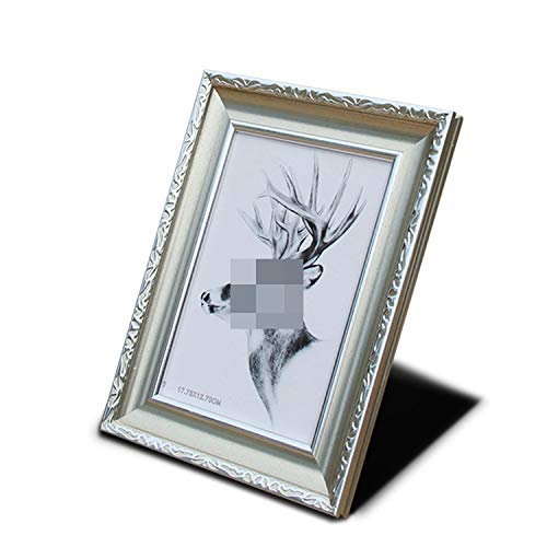 Classic Photo Frame Painting Frame Creative Home Art Decor Gifts Vintage Desktop Photo Frame for Pictures 6' 8' 10' 12' A4 Photos,Silver,10inch (25.4x20.3cm)