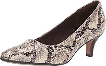 Clarks Women s Linvale Jerica Shoe Taupe Snake Textile 95 M US