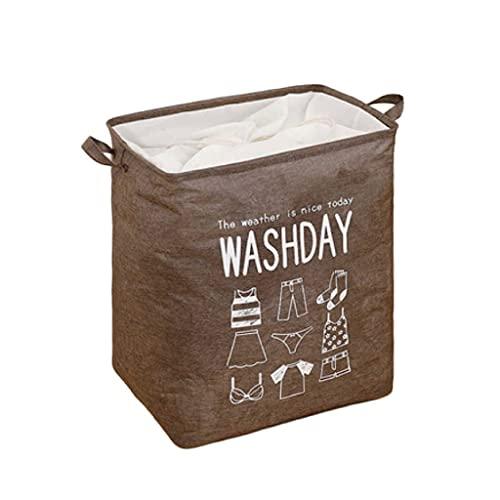ZHUSHI Cesto de lavandería, Duradero, de Moda, Cesta, Cubo, Caja de Almacenamiento, Ropa, Colcha, Bolsa de Almacenamiento, Ropa Sucia (Color : Brown)
