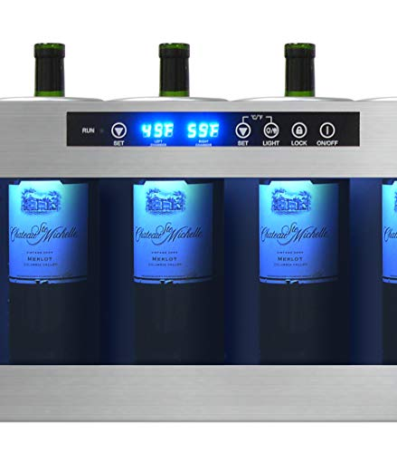 Vinotemp IL-OW006-2Z Romanzo 6-Bottle Open Wine Cooler, Black
