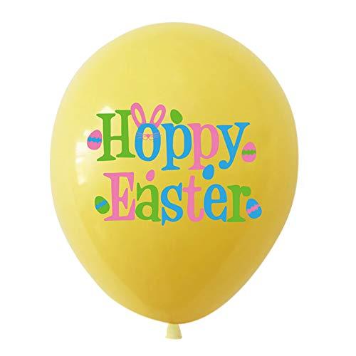 Lote de 10 globos de fiesta de Pascua – Conejo Bunny Huevo – Decoración de fiesta de cumpleaños de Pascua