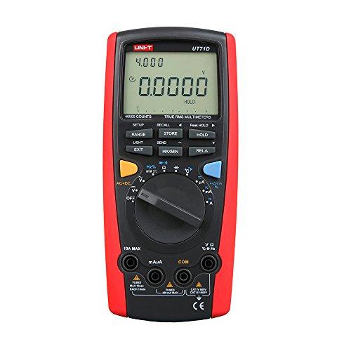 UNI-T UT71A/C/D Serie multimetro digitale Amp Ohm Cap Tester (UT71D)