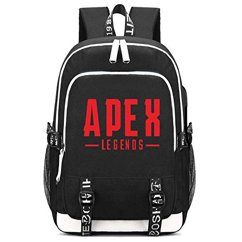 Apex Legends Game Printing Backpacks Men Daypacks Canvas School Bags USB Charging Laptop Travel Bags (c)