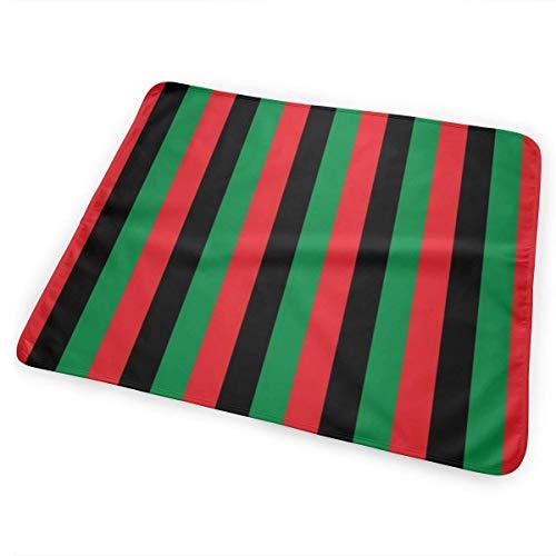 Rood, Zwart, Groen Pan Afrikaanse Vlag Verticaal (Half Inch) Baby Draagbare Herbruikbare Verwisselbare Pad Mat 25,5 x 31.5