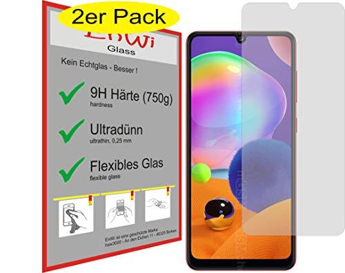 EnWi | 2X Panzer-Glas-Folie 9H Bildschirm-Schutz-Folie für Samsung Galaxy A31