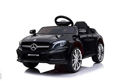 Mercedes Lizenz Benz AMG GLA 45 Kinder Elektrofahrzeug Kinderfahrzeug Kinderauto Elektroauto 2X 30W Motor (Schwarz)