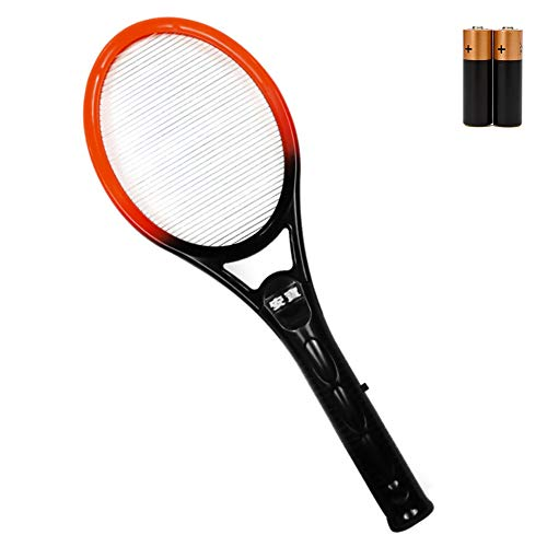Elettrico Volare Mosquito Swatter,Bug Zapper Racchetta Portatile Batteria Strato Singolo Cordless Casa Repellente Killer di Insetti Nero