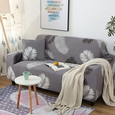 Fjädermönster sofföverdrag överdrag soffa för soffa handduk vardagsrum möbler skyddande fåtölj soffor A19 3-sits