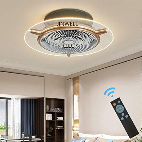 Ljdgr Ventiladores para el Techo con lámpara, Creativo Moderno Simple Restaurante Sala Inicio Brillante nórdica Dormitorio de atenuación de iluminación