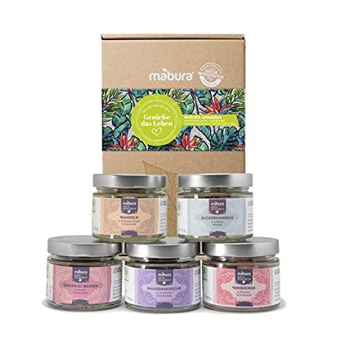 Mabura® Sueße Versuchung Geschenkset - Bio Feinkost Schokolade mit Nüssen & Früchten | Schoko Süßigkeiten als Geschenk für Männer & Frauen - Edle Schokoladen Geschenkbox