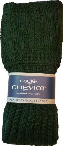 Glenmore Kilt Socks (Medium (8.5-10.5), Tartan Green)