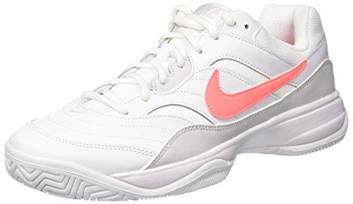 Nike Wmns Nike Court Lite, Scarpe da Tennis Donna, Bianco (White / Lava Glow / Vast Grey 113), 38 EU
