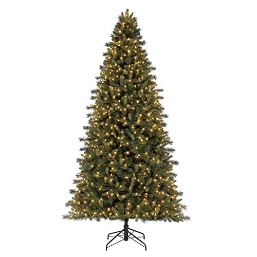 Evergreen Classics 9 Feet Pre-Lit Norway Spruce Artificial Christmas Tree, Warm White LED Lights -  Polygroup, TG90P5509L00