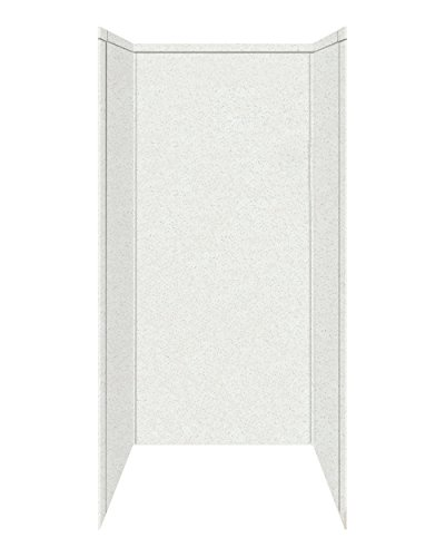 """Transolid 7WK36367200A8 Decor Solid Surface Shower Wall Surround, 36"""" x 36"""" x 72"""", Matrix White"""