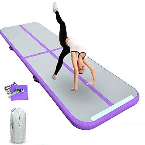 FBSPORT 10cm hoch Verdicken 3M Aufblasbar Gymnastik Tumbling Matte Air Track,Trainingsmatte, Gymnastikmatte mit Tragetasche