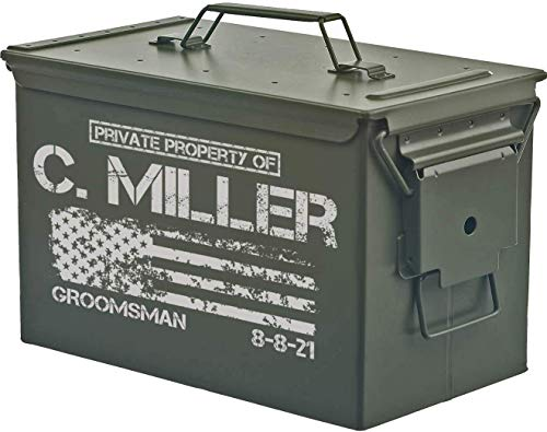 Personalized Engraved Ammo Can Storage Box Custom (50 Cal)