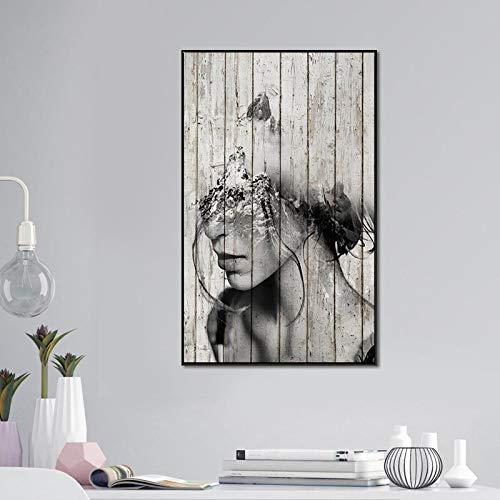 SDFSD Desgeïnteresseerde graffiti-art prints en posters voor vrouwen Canvas foto's voor woonkamer kunst moderne decoratieve foto's 40X60CM