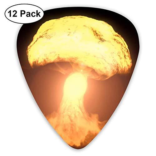 Hydrogen Bomb Exploded Mushroom Guitar Picks 12 Ukulele Picks, einschließlich 0,46 mm, 0,71 mm, 0,96 mm Akustikgitarre