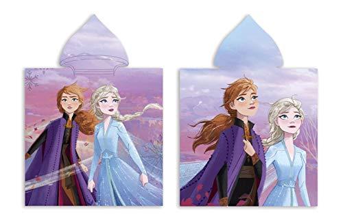 Theonoi Badetuch Handtuch Bademantel Badeponcho Kapuzen Poncho für Kinder tolles Geschenk für Mädchen Eisprinzessin (A Frozen II)