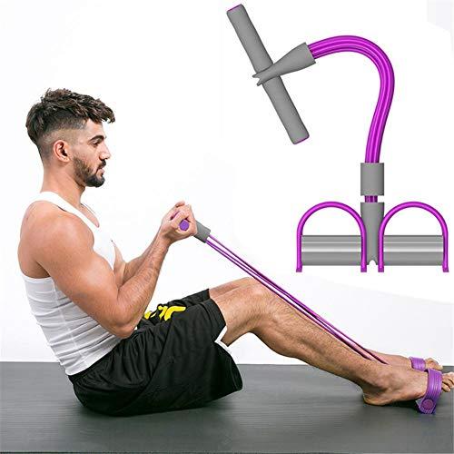 Allenamento multifunzionale di resistenza della corda di trazione 4 gambe Leg Yoga Yoga Esercitatore di piedi Sit-up Bodybuilding per attrezzi da palestra di casa Yoga