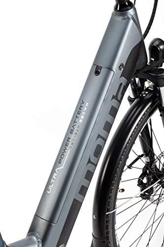 Moma Bikes Hydraulic Vélo de Ville Electrique VAE Ebike 28.2 Hydraulicque Batterie intégrée Adulte Unisexe, Gris, Unic Size