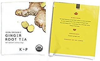 Organic Pure Ginger Root Tea from Sri Lanka, 100 teabags