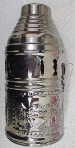 Egyptian Decorative Stainless Steel Large Wind Cover Hookah Shisha Nargila New 416