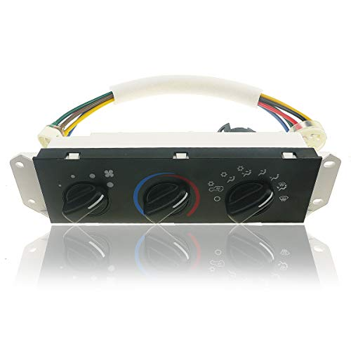 HVAC Climate Control Panel for 99-01 Jeep Wrangler, for 02-04 Jeep TJ Wrangler Right Hand Drive, Heater Selector Control Switch, Climate Heater Panel Air Conditioning Control Unit, HS-373 55037473AB