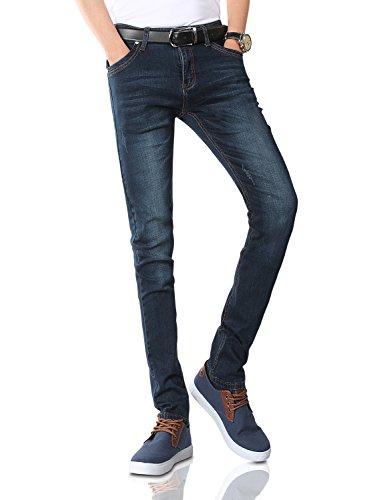 Demon&Hunter Men's Blue Stretch Skinny Fit Denim Jeans S8L58(32)