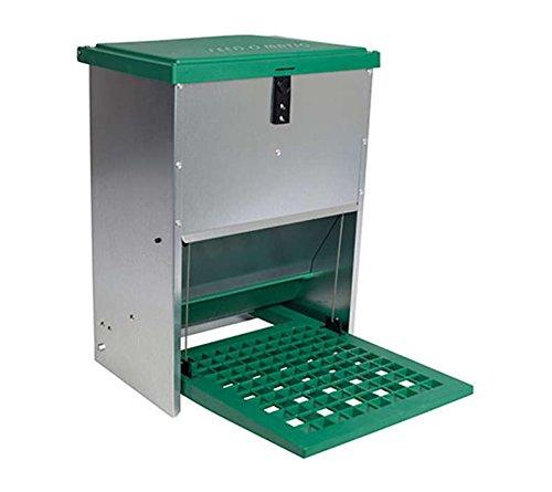 FINCA CASAREJO Comedero gallinas antipájaros automático para 12 kg.