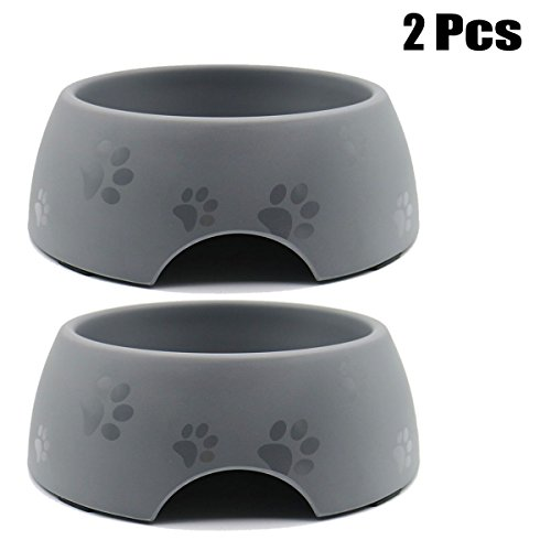 Joyibay Hund Futternapf Footprint Pattern Anti Skid Pet Futternapf Katze Wasser Bowl Pet Food Bowl Hundenapf